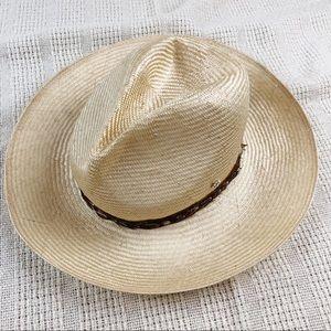 Flora Bella Natural Straw Sun Hat Feather Trim